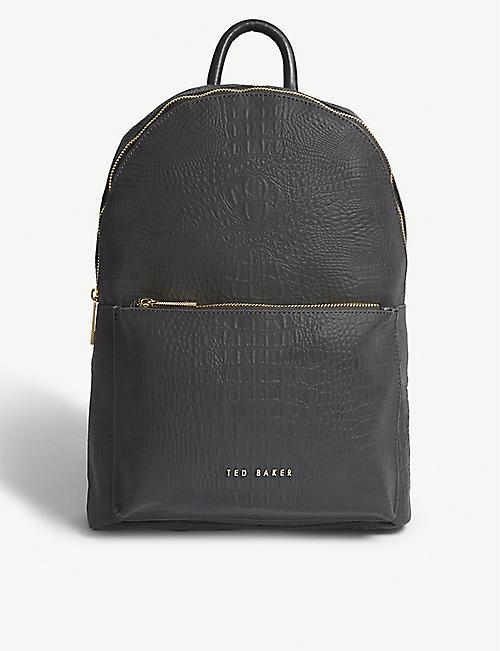 3fd610a1ba TED BAKER - Croc-embossed backpack