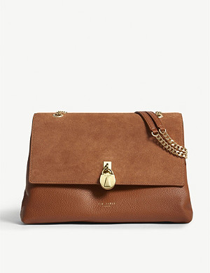 TED BAKER Hermiaa suede and leather shoulder bag