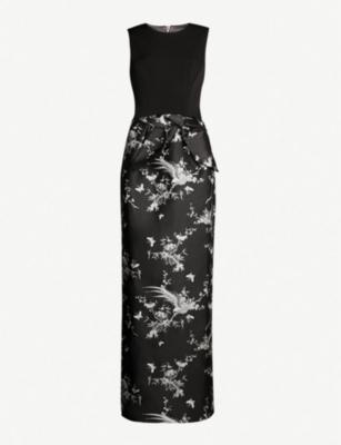 b9c30b490566 TED BAKER · The Orient printed satin maxi dress