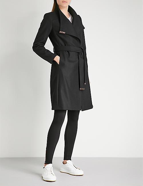 4122860906588 TED BAKER Sandra wool-blend wrap coat