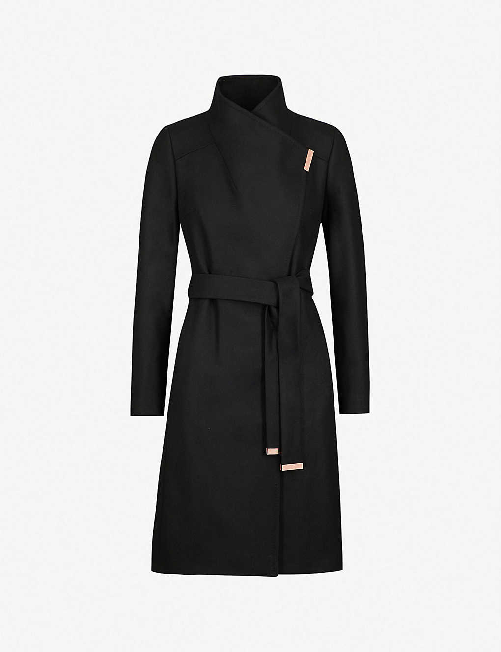 6a9d2406f TED BAKER - Sandra wool-blend wrap coat