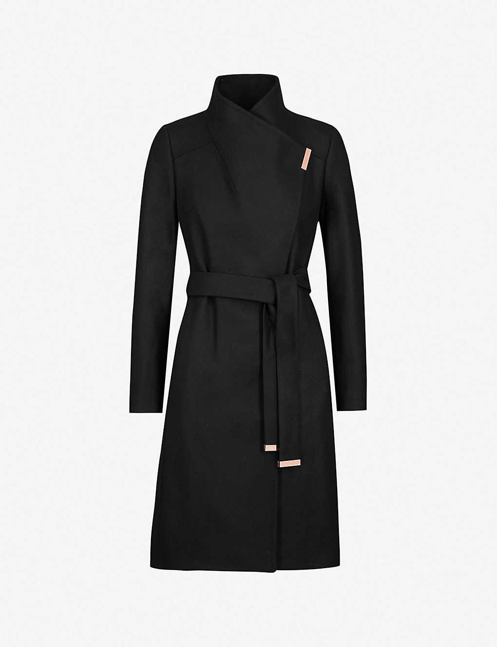 e8bf3a0ed3 TED BAKER - Sandra wool-blend wrap coat