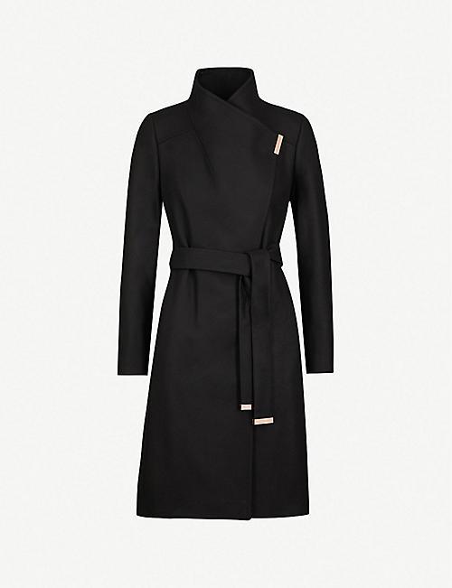 ad6a46e2074 TED BAKER Sandra wool-blend wrap coat