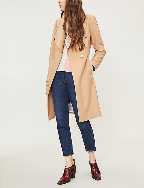dc0a15dd0ddf1 TED BAKER Sandra wool-blend wrap coat