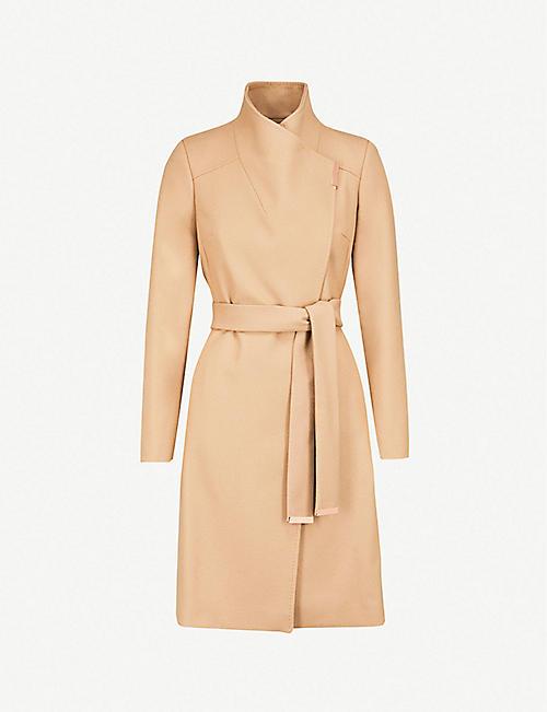 1fe504a63 TED BAKER Sandra wool-blend wrap coat