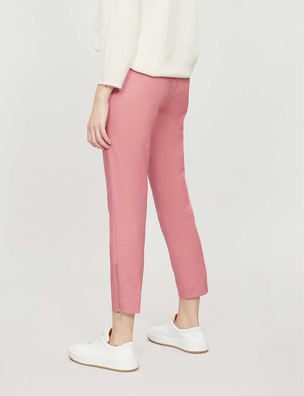 88e43f856818 TED BAKER - Betha bow-waist stretch-cotton tapered trousers ...