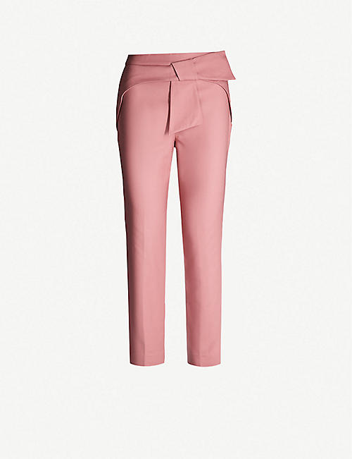 a0eaefea0ca TED BAKER Betha bow-waist stretch-cotton tapered trousers