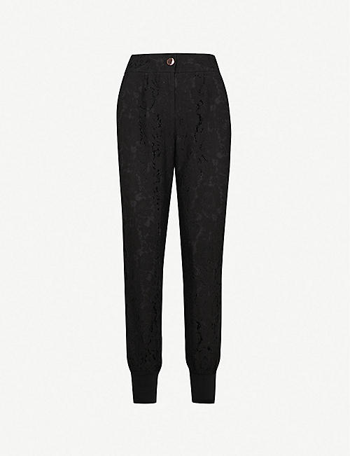 119f9c681 TED BAKER Cylar high-rise relaxed-fit floral-lace jogging bottoms