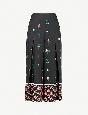 TED BAKER Kaytii floral-print woven culottes