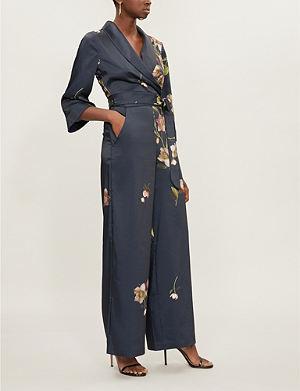 0e2721b39691 TED BAKER Arboretum pyjama satin-twill jumpsuit