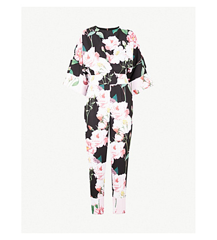 ced6ff6b20d TED BAKER Neptone Iguaza printed crepe jumpsuit (Black