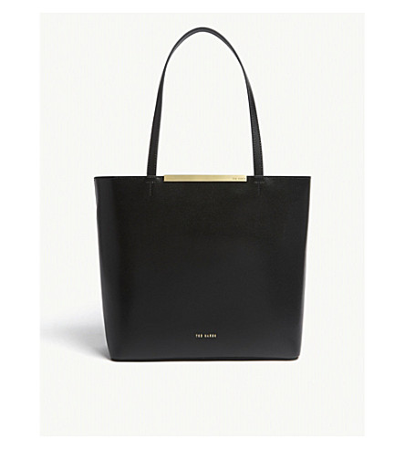 c50899ec2922b TED BAKER Melisa large leather tote (Black