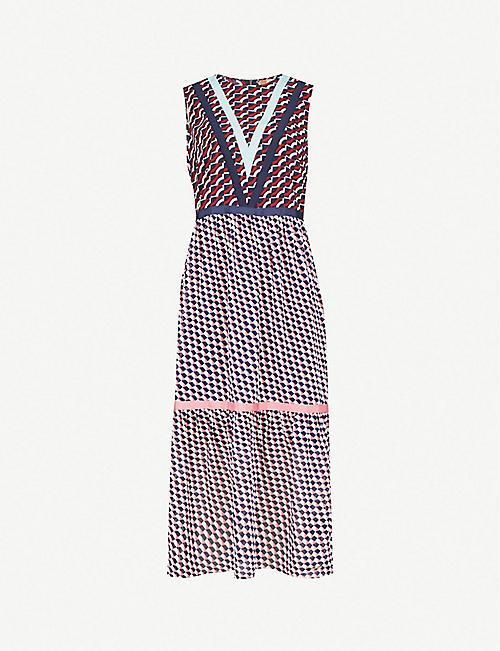 492b2b18b827 TED BAKER Zantia geometric-print crepe dress