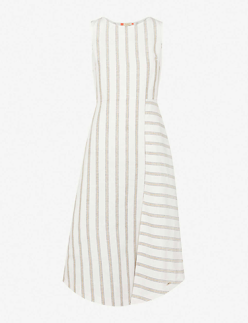 0021c0002 TED BAKER - Colour By Numbers Chambra striped linen dress ...