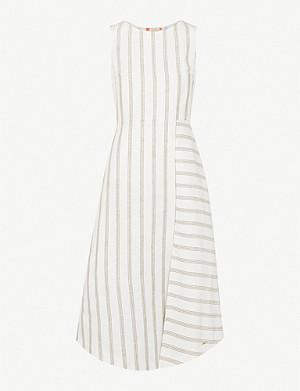 9b7ccd83b TED BAKER - Valetia Elegance-print pleated devoré dress