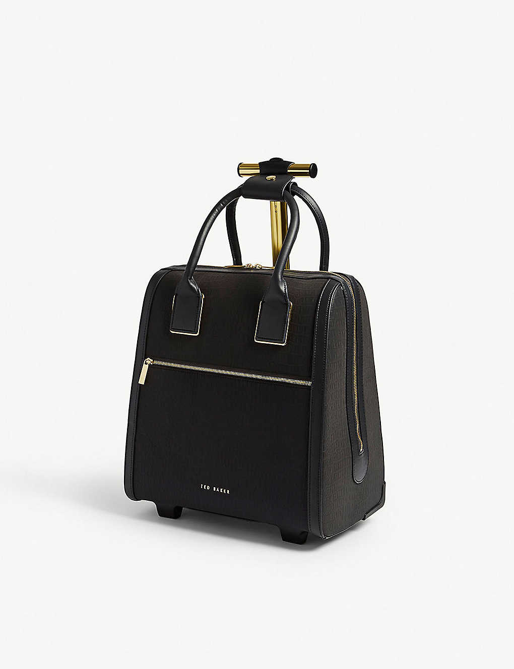 a626544cc TED BAKER - Cressa reflective faux-leather two-wheel cabin case 37.5 ...
