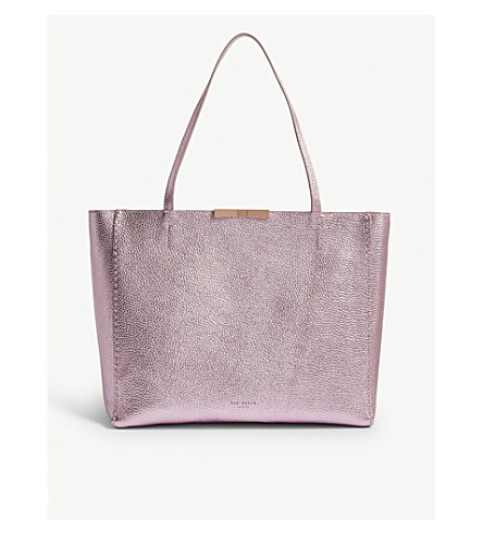 a03acdae6d ... TED BAKER Criesia metallic grained leather shopper (Light+pink.  PreviousNext