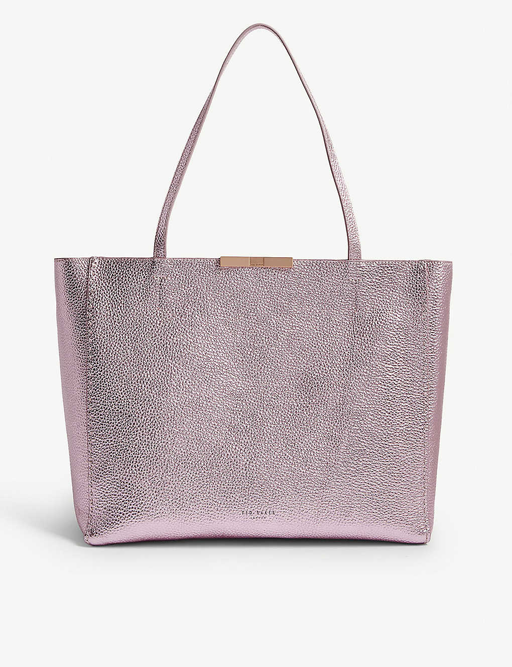 3ffae8f84 TED BAKER - Criesia metallic grained leather shopper
