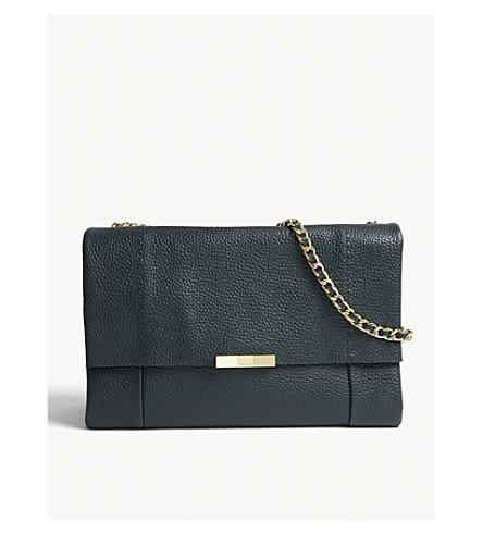 b2d9c821b TED BAKER Genifer leather shoulder bag (Dark+green