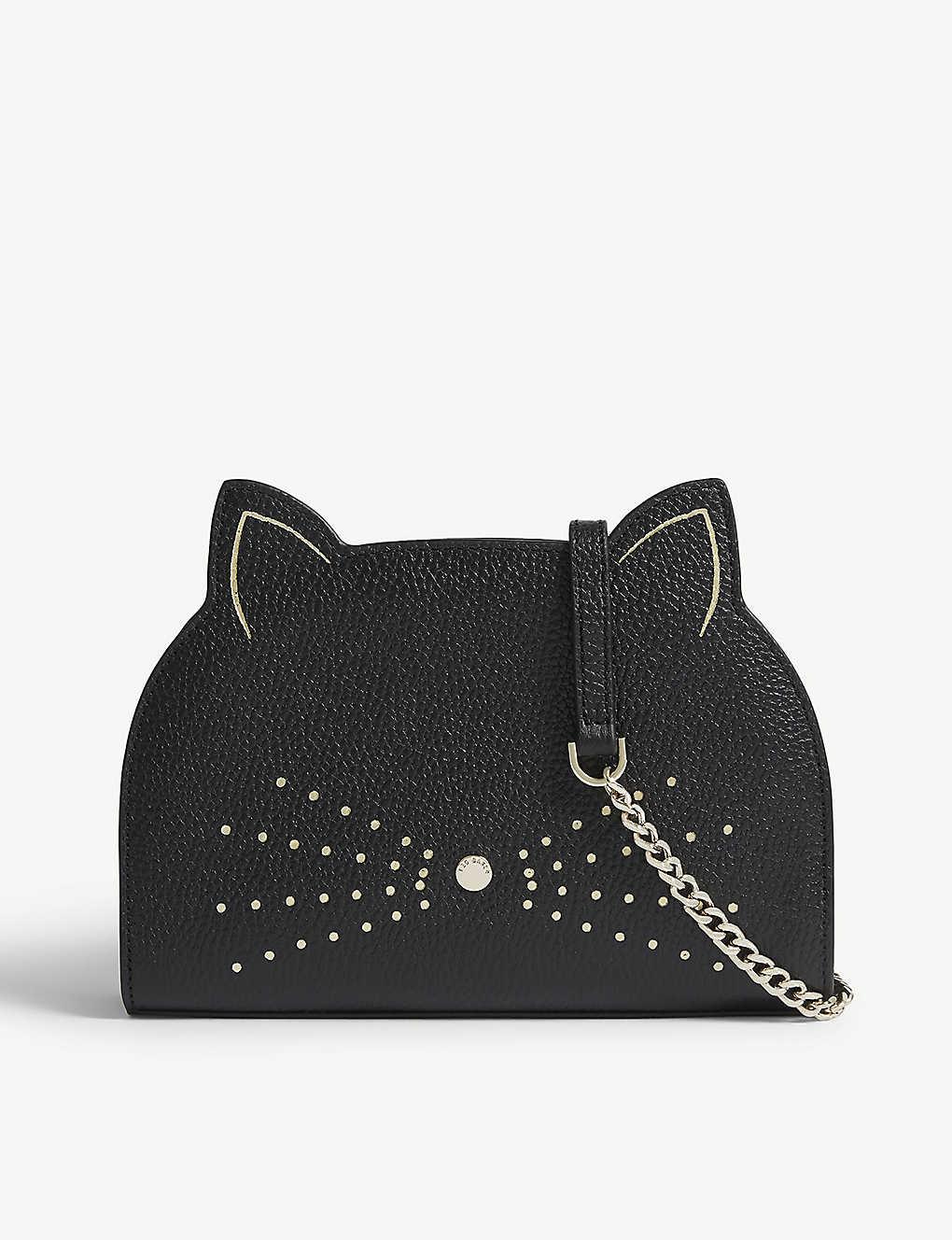 d2dd783ceeb8 TED BAKER - Kirstie leather cat cross-body bag
