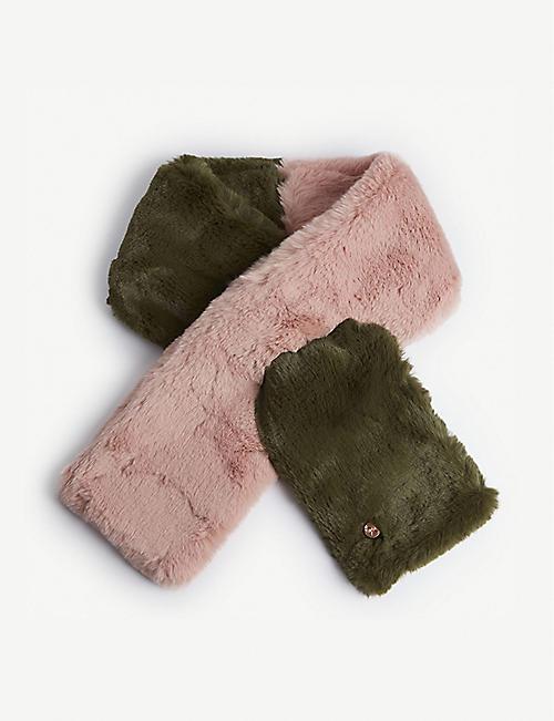 3c637efb7ae5 TED BAKER Zeta two-tone faux-fur scarf