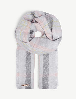 73408c63247a1 Meghan faux-fur pompom scarf. TED BAKER Boucle check blanket