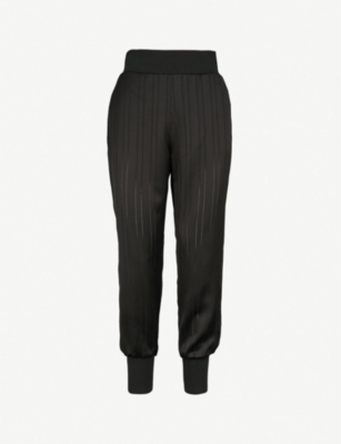 TED BAKER Pinstripe satin joggers