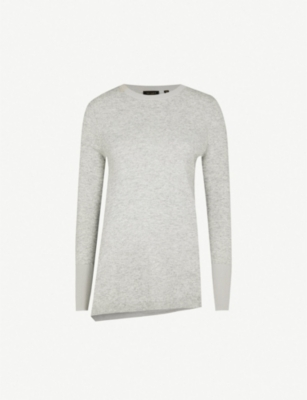 TED BAKER Asymmetric wool-blend jumper