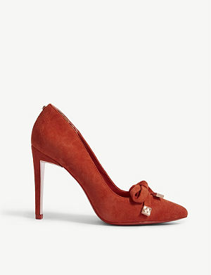 d2f60a3d7c20 TED BAKER Gewell bow detail suede courts