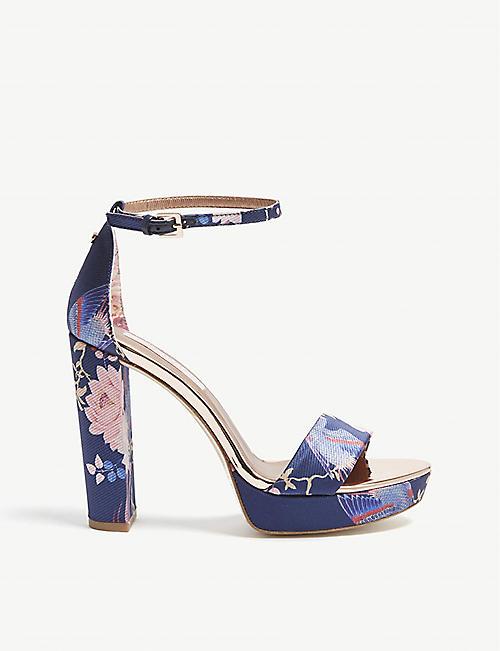 bd2ade668ce2 TED BAKER Junaaa jacquard block heel sandals