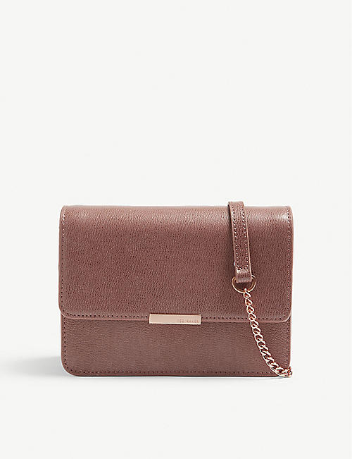 c1342c9b9 TED BAKER Core leather cross-body bag