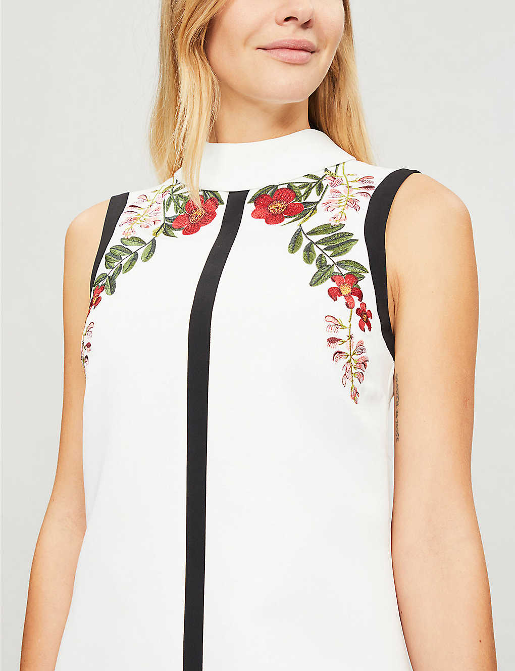 8d310bd2eb0 TED BAKER - Aimmiid Kirstenbosch embroidered woven tunic dress ...
