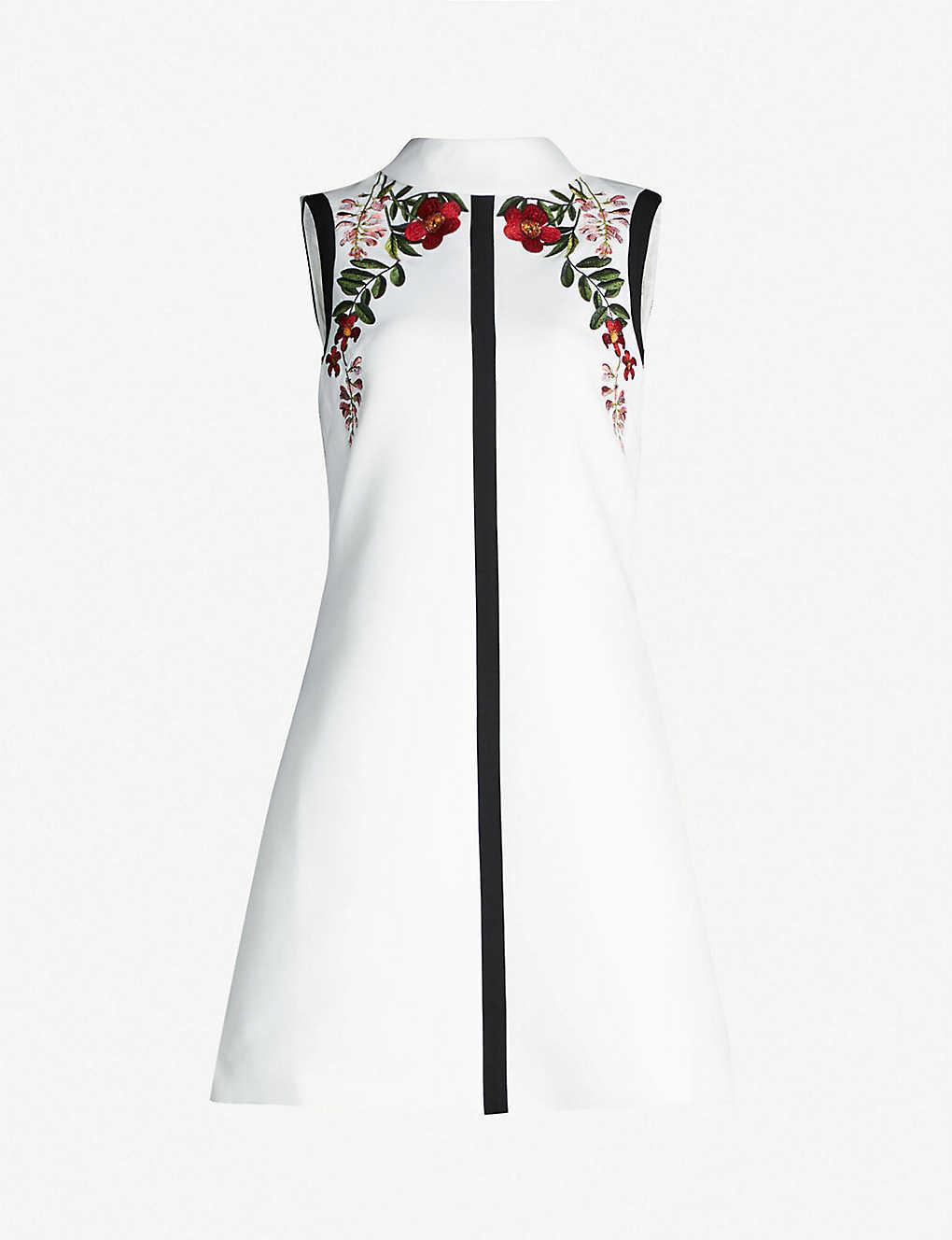 4830ecd4bf0 TED BAKER - Aimmiid Kirstenbosch embroidered woven tunic dress |  Selfridges.com