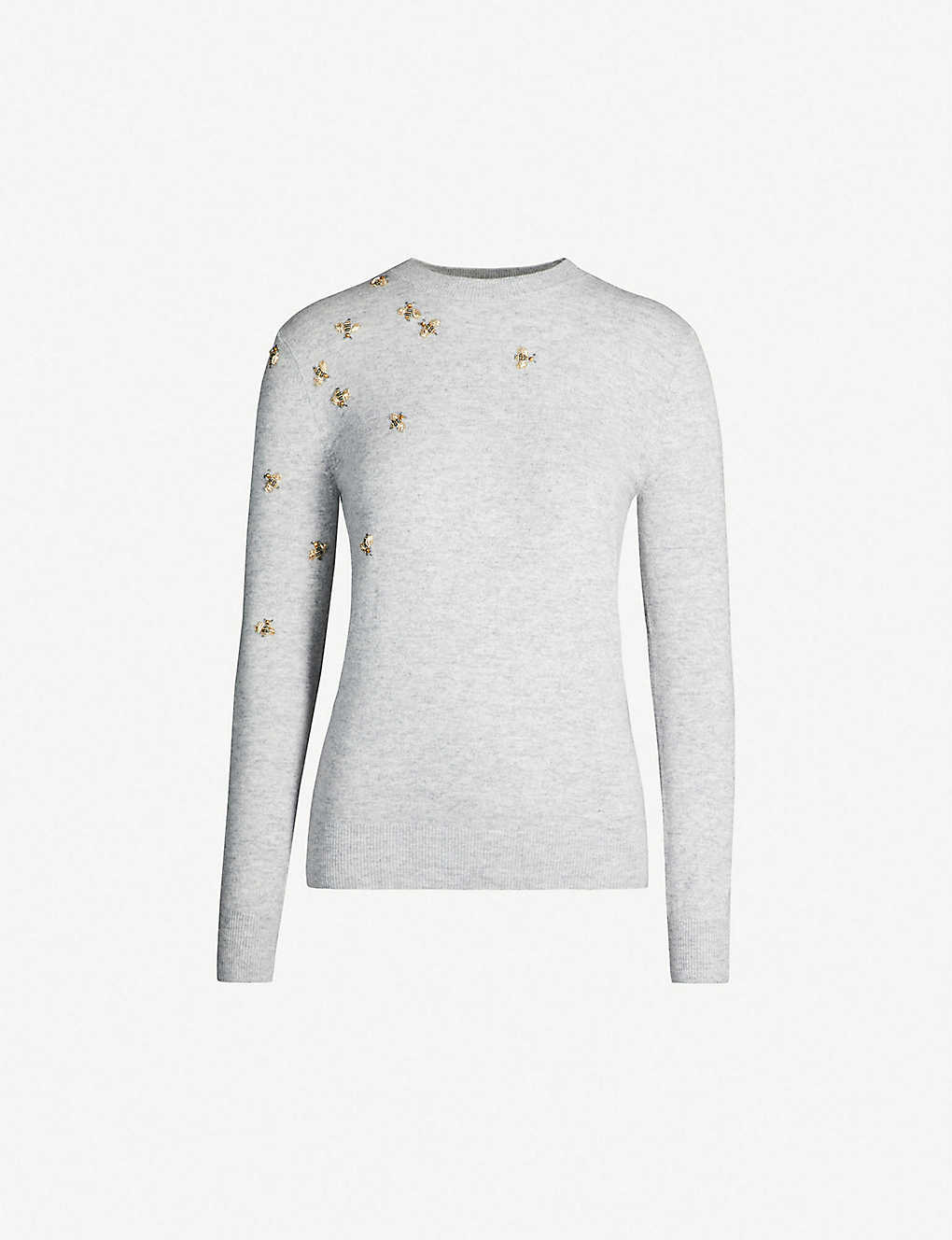 f0c42547 TED BAKER - Calliee bee embellished knitted wool-blend jumper |  Selfridges.com