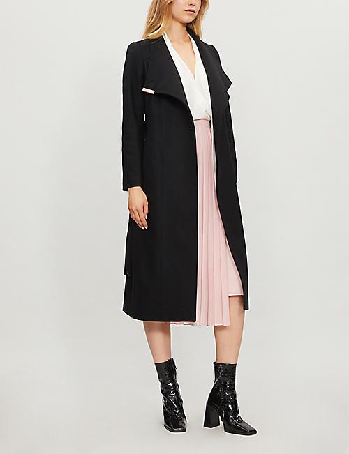 1d0d57c78caf7 TED BAKER - Sandral wool-blend wrap coat