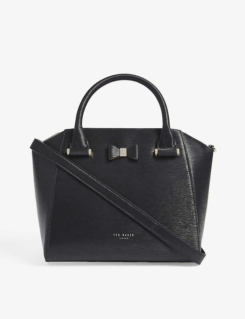 41cbfff39 TED BAKER - Cala small bow detail leather tote