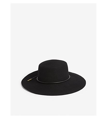 ... TED BAKER Alizza rope detail floppy wool hat (Black. PreviousNext bb3db99d154