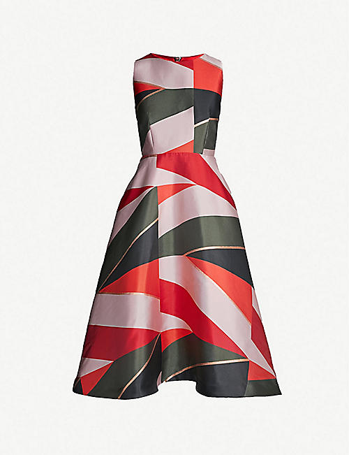 61848db95 TED BAKER Sahara-print fit-and-flared woven dress