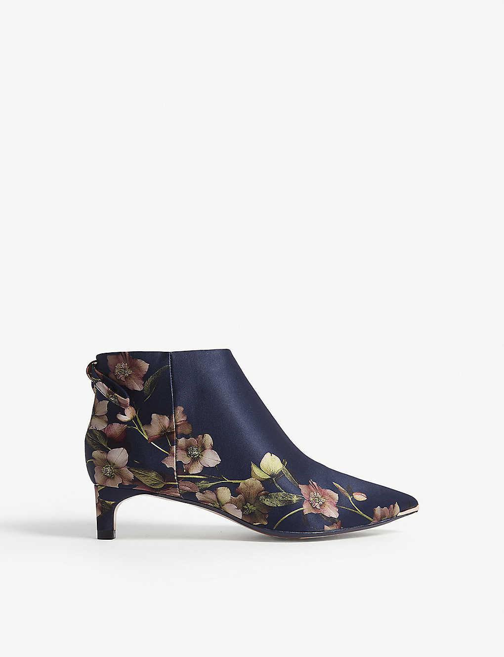 8ca6c2c77163 Amaedip kitten heel satin ankle boots - Dark blue ...