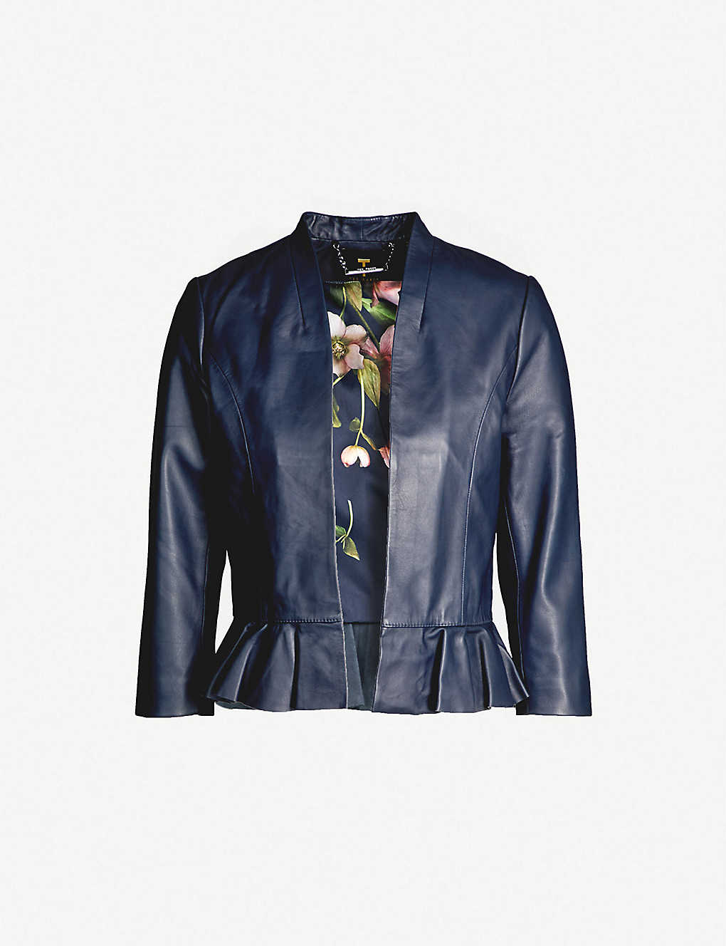 fb54ac944 TED BAKER - Febbe frill detailed leather jacket
