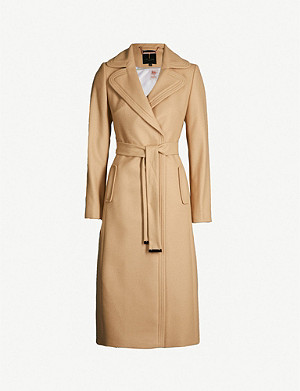c351fca10fd TED BAKER · Gabella wool-blend coat · TED BAKER Graceful embroidered cotton  macintosh