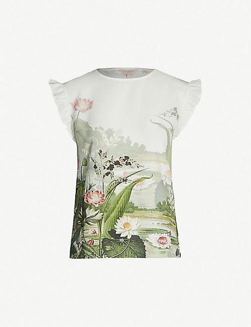 05afd0c23 TED BAKER - T-shirts & Vests - Tops - Clothing - Womens - Selfridges ...