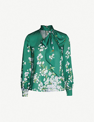 ddac0df7f2139d TED BAKER - Marther pussy bow-neck silk top