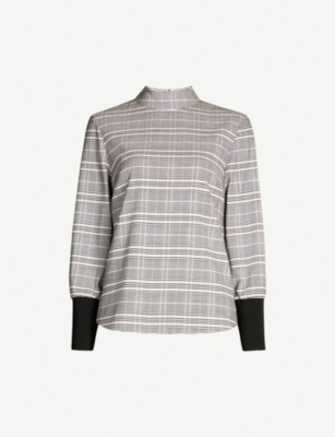 TED BAKER Kimmto checked woven top