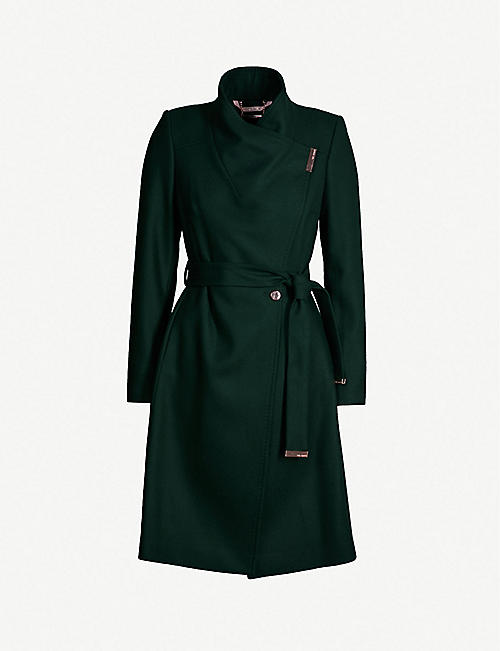 7c8df762471592 TED BAKER Sandra wool-blend coat