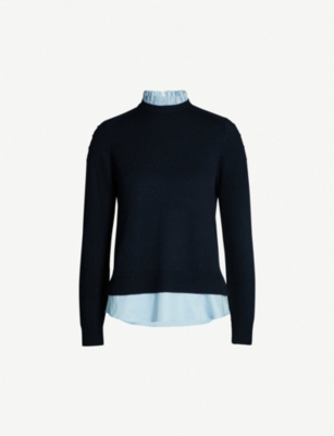 TED BAKER Bobble sleeve mockable jumper