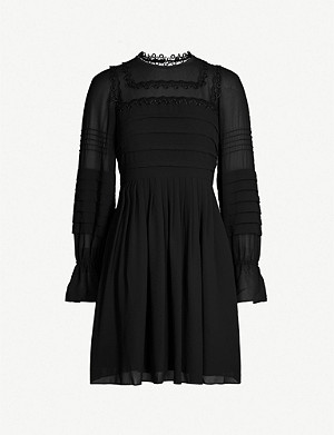 TED BAKER Arrebel embroidered chiffon dress