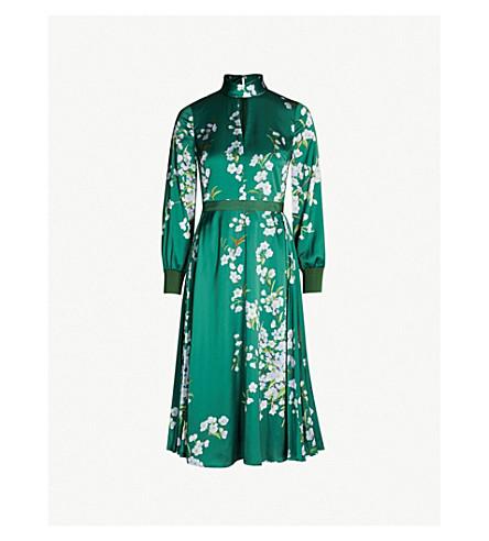 5be187b0 TED BAKER - Jhenni Graceful satin midi dress | Selfridges.com