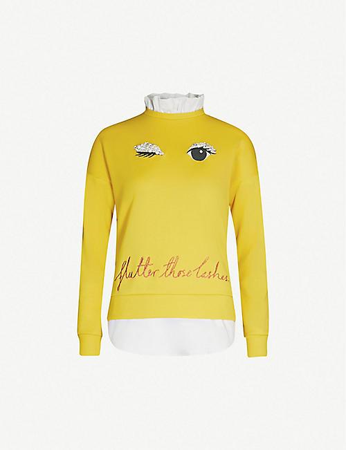 ebc437f40da1b TED BAKER Henreet embellished cotton-jersey sweatshirt