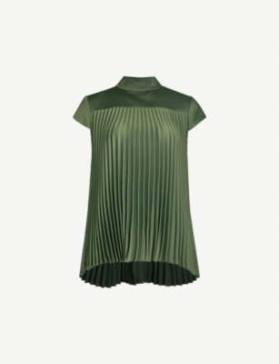 TED BAKER Laurra pleated satin top